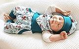 Atelier MiaMia - Pumphose oder Set Baby von 50-92 Designerbabyhose Füchse Mint
