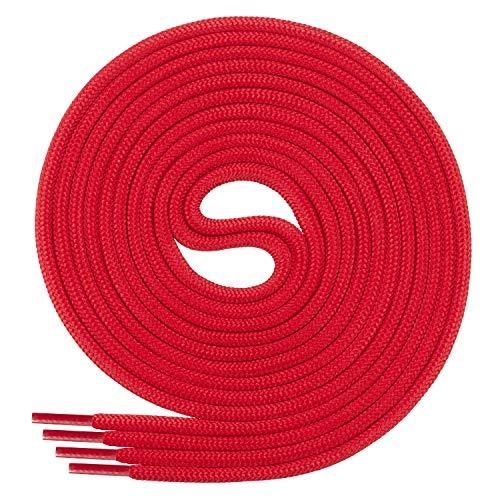 Di Ficchiano Schnürsenkel, Rundsenkel für Business- und Lederschuhe, reißfester Allroundsenkel, ø 3mm Farbe rot Länge 80cm