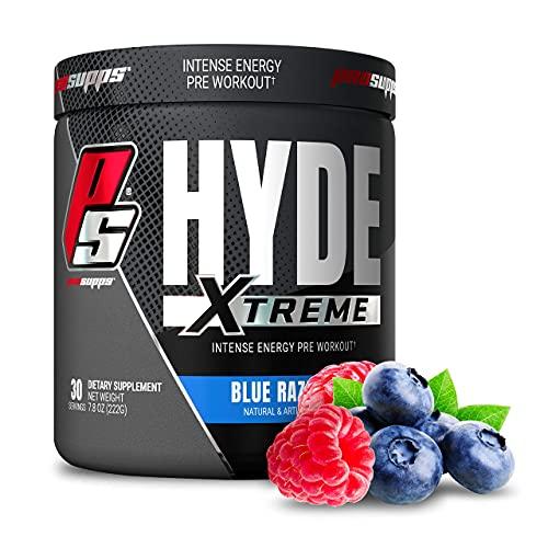 ProSupps Mr. Hyde Xtreme (Former NitroX) Pre-Workout Powder Energy Drink - Intense Sustained Energy, Pumps & Focus with Beta Alanine, Creatine & Nitrosigine, (30 Servings, Blue Razz Blitz)
