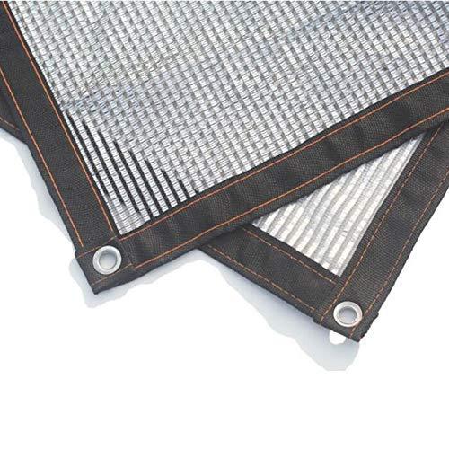 Gcxzb Encerado del 50% Reflectante Aluminet Pantalla de Tela UV Protector Solar Resistente Shade Red con Ojales Bloqueador Solar de Malla Sombra for Invernadero Jardín Pat (Color: T1, Tamaño: 2x4m)