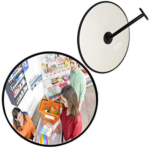 professioneller Beobachtungsspiegel, Sicherheitsspiegel, Kontrollspiegel, Überwachungsspiegel, Konvexspiegel, 30 cm, Endlich kein lästiges Schrauben mehr beim Einstellen des Spiegels