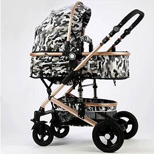 DAGCOT Asiento de bebé Cochecito portátil y ligero viaje cochecito cochecito plegable for niños pequeños cochecito cuna convertible reclinado Copa Holder y del pie de la cubierta del carro de bebé en