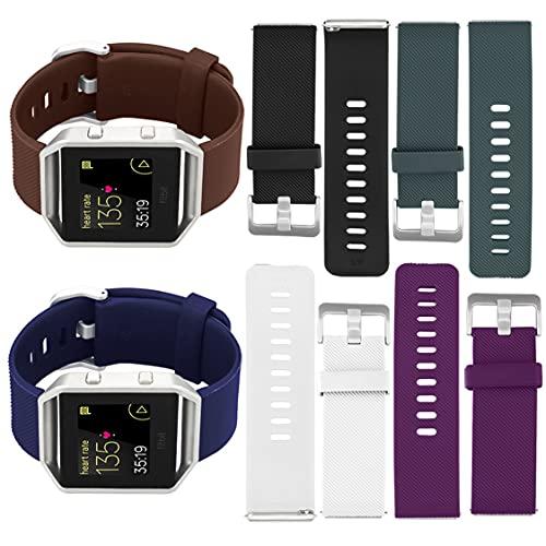 #N/D Correa de silicona suave ajustable para reloj deportivo con pasadores de liberación rápida para reloj inteligente Fitbit Blaze