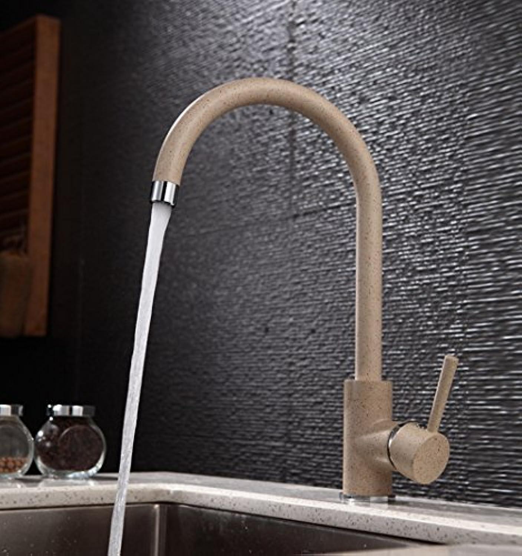 Küchenarmatur, Wasserhahn küche mit herausziehbarer Dual-Spülbrause,Spiralfederhahn Wasserhahn.Kaltes und Heies Wasser Vorhanden Messing verchromt Mélangeur d'eau chaude et froide de cuisine