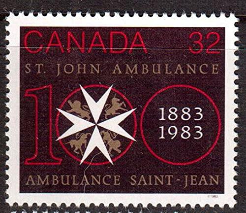 FGNDGEQN Colección de Sellos Canadá 1983 Equipo de St. John Rescue 100 años / Sello médico 1