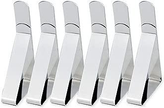 Holzhalter mit Glashalterung 10er-Set NUZAMAS-Glasklemmen verchromte Zinklegierung Clip in Fischmaulform Holz- // Glasbodentr/äger einstellbare Klemmst/ärke 3-16 mm