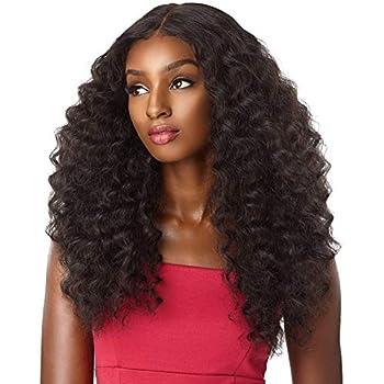 sensationnel synthetic lace front wig empress edge natural center part amani  1B