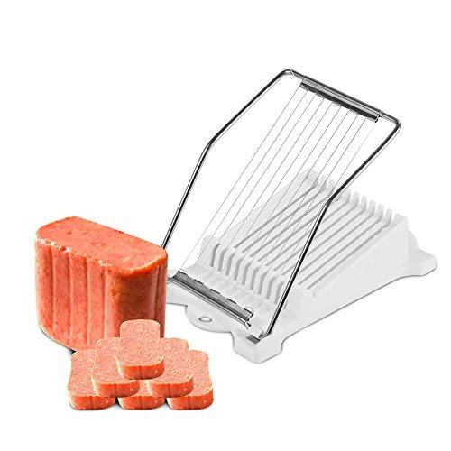 Praktische Küche Mittagessen Fleisch Spam, Edelstahl Drähte Mittagessen Fleischschneider Schinken Gekochter Ei Käse Küche Lebensmittel Schneidwerkzeug Käseschneider