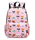 Abshoo Little Kids Toddler Backpacks for Preschool Backpack With Chest Strap (Husky Dog Pink)