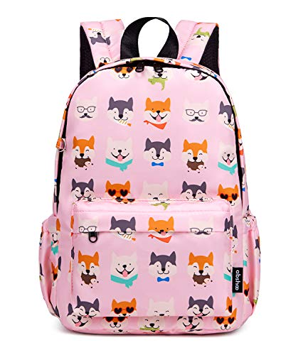 Abshoo Little Kids Toddler Backpacks for Preschool Backpack With Chest Strap (Husky Dog Pink)