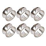 Frjjthchy 6 Pcs Stainless Steel Bead Side Napkin Rings Delicate Serviette Buckles (Silver)...