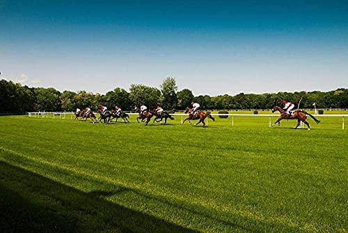 Carreras de caballos en Pista Ovalada Rompecabezas para Adultos 1000 Pieza,Madera Rompecabezas de la Familia de que el Juego de la Colección de Juego Educativo de Arte para la Pared del Dormit