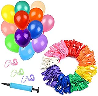SKKSTATIONERY 100 Pack Balloons, 12 Inch Assorted Colored, Birthday Parties Supplies and Decoration