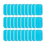 Amasawa 30 Tabletas EMS Gel Hojas,Gel Pad para EMS Electroestimulador Muscular Abdominales, EMS Gel Hojas para estimulador Muscular Abdominales