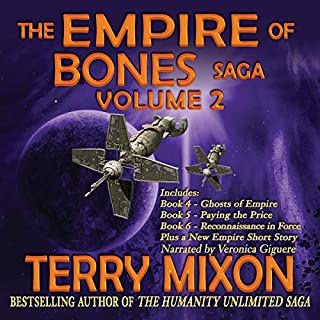 The Empire of Bones Saga, Volume 2                   By:                                                                                                                                 Terry Mixon                               Narrated by:                                                                                                                                 Veronica Giguere                      Length: 33 hrs and 25 mins     1 rating     Overall 4.0