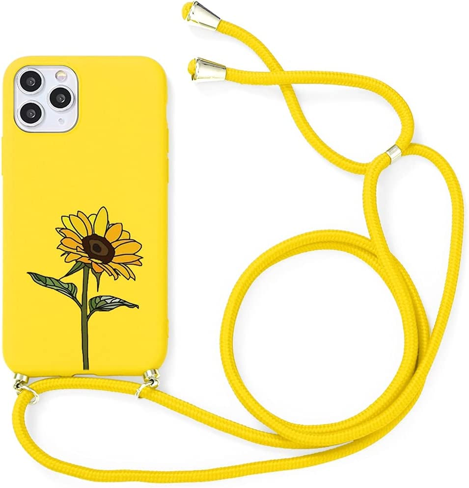 Yoedge Crossbody Case for Oppo A37, Neck Cord Phone Case with Adjustable Lanyard Strap, Soft TPU Silicone with Cute Pattern Cover Compatible with Oppo A37 [5