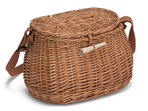 Prestige Wicker Fishing Creel, Willow, Natural, 32x17x19 cm