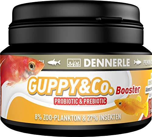 Dennerle Guppy & Co. Booster - Futter für lebendgebärende Fische wie Guppy & Platy
