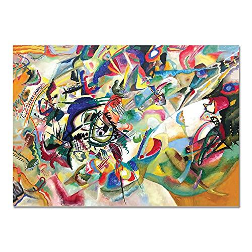 Giallobus - Quadro - Vassily Kandinsky - Composizione n. 7 - Vetro Acrilico Plexi - 70x50 - Pronto da Appendere - Quadri Moderni per la casa