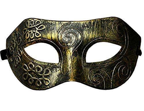 Lovelegis Máscara - Color Bronce Antiguo - Carnaval - Halloween - Veneciano - Hombre - Mujer - Unisex - Efecto metálico - Flexible - esotérico - Idea de Regalo para cumpleaños
