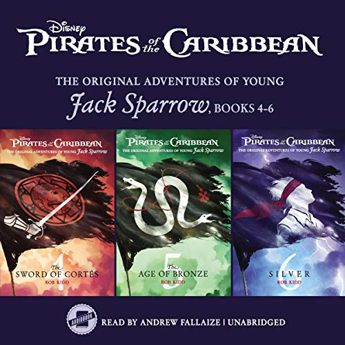 Pirates of the Caribbean: Jack Sparrow Books 4-6 audiobook cover art