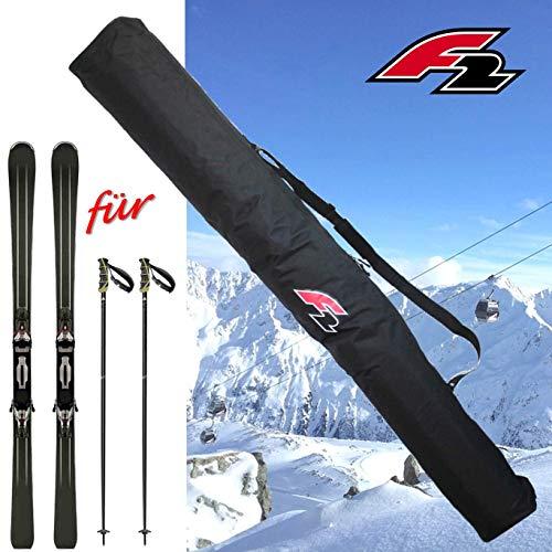 F2 Skitasche Transport Tasche für 1 Paar Ski bis 190 cm Ski-sack Skier-Bag