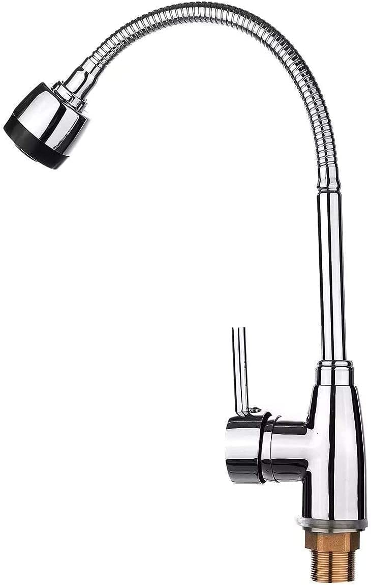 Praee Kitchen Faucet Price reduction 360° Swivel Fau Sink Austin Mall Handle Single Spout
