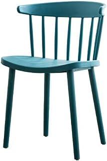 KXBYMXMuebles de salón de Cocina Silla nórdica del Respaldo, Silla plástica Simple del Escritorio del hogar de la Silla del Ocio (Color : A)
