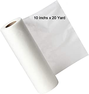 Zipcase 10 inch x 20 Yard Water Soluble Embroidery Stabilizer - Medium Weight & Thickness Backing -Best Choice for Free Standing Lace & High Temperature Resist Fabric Edition