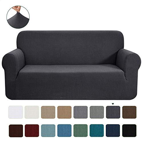 CHUN YI 1-Stück Jacquard Sofaüberwurf, Sofaüberzug, Sofahusse, Sofabezug für Sofa, Couch, Sessel, mehrere Farben (Grau, 3-sitzer)