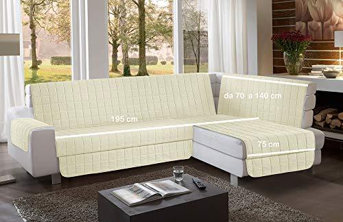 la biancheria di casa Simplicity Plus Angle Copri Salva Divano per divani ad Angolo (195 cm, Crema)