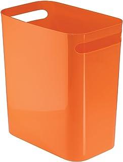 """InterDesign UNA Wastebasket Trash Can 12"""", Orange"""