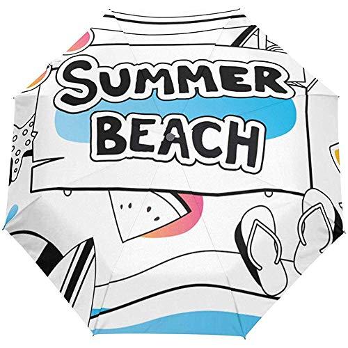 Ombrello apribile automatico per ombrellone da spiaggia estivo Ombrello automatico compatto anti UV pieghevole