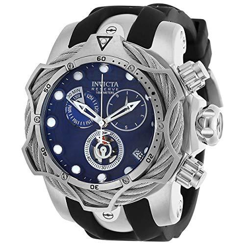 Invicta 27703 Montre en caoutchouc pour homme avec cadran chronographe Bleu