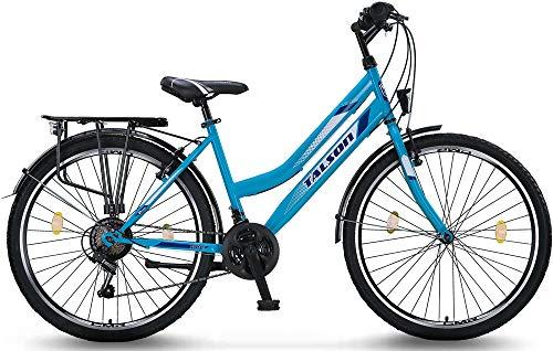 26 Zoll Fahrrad 21-Gang Shimano Schaltung mit Beleuchtung nach STVO Türkis Doppelrahmen - 2