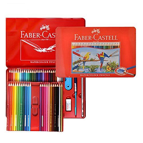 ファーバーカステル FABER-CASTELL 水彩色鉛筆 48色 赤缶【並行輸入品】