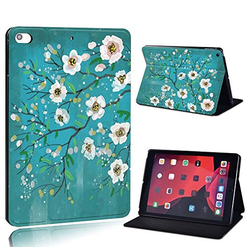 lingtai For Ipad 2 3 4 5 6 7/Air 1 2 3/Pro 11 2018 2020 Pu Leather Tablet Stand Folio Cover Ultrathin Painting Colors Slim Case (Color : White, Size : 8th Gen (2020))