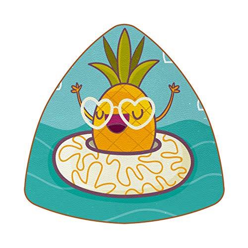 Getränkeuntersetzer 6er Set Leder Untersetzer für Getränke rutschfest für Zuhause und Küche Lustige Ananas mit Rettungsring