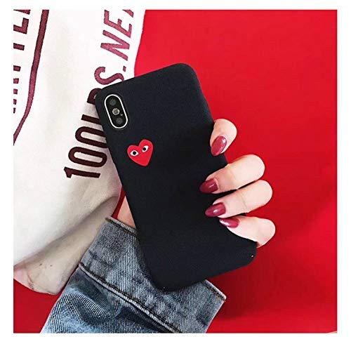 ZJHHH Merk Spelen Liefde Hart Matte Hoesje Telefoon Cover Voor iPhone 6 s 7 8 Plus X XR XS Max 10 Hard Case Achterzijde For iPhone 7 Plus Zwart