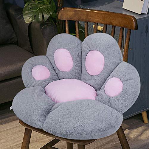Cojín de asiento reversible con forma de pata, cojín suave y cálido de felpa, cojín de asiento de oficina, alivia el coxis, ciática, alivio del dolor de coxis, cojín de la silla