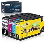 OfficeWorld Remplacer pour HP 953 953XL Cartouches d'encre Grande Capacité Compatible avec HP Officejet Pro 7740 8218 8710 8715 8718 8719 8720 8725 8730 8740