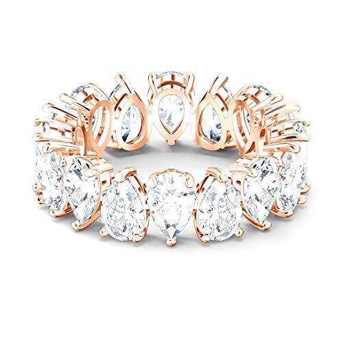 Swarovski Women's Ring Vittore Pear Rose Gold Plated 5586162