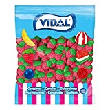 Vidal Golosinas. Fresas Silvestres. Caramelo de goma con sabor y forma de fresa. Colores verde y rojo. Bolsa 1,5 kg