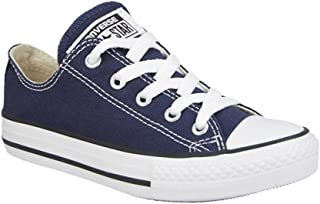 Converse All Star Low Top Kids/Youth Shoes Boys/Girls Sneakers (12.0 Kids, Low Navy Blue)