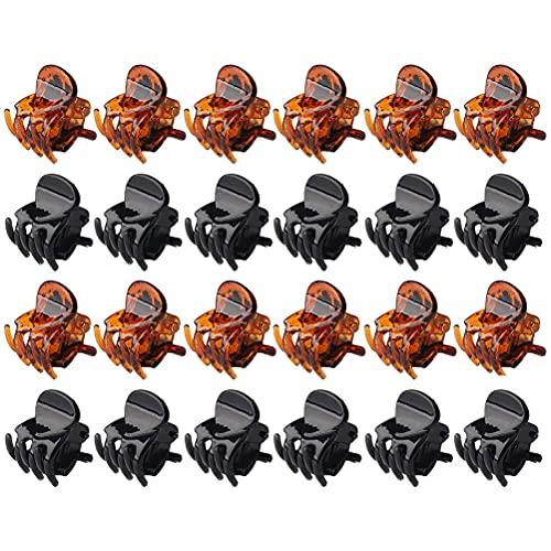 Mini Pinces à Cheveux Antidérapantes, 24 Pièces Petits Clips De Mâchoire 1.5cm Griffes à Cheveux En Acrylique Forte Tenue Pour Filles Et Femmes