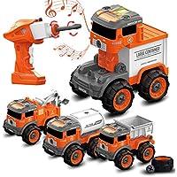 BerrysParadise Kids' 4-in-1 Truck Building Set