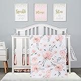 4-Piece Crib Bedding Set for Girls by PINNKKU, Baby...