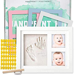 ✅⚡LOWEST PRICE OF THE YEAR!⚡ BONUS COLOR INSERTS! CREAM, WHITE, BLUE & PINK! A gift that will be cherished for a life: If you're looking for a thoughtful gift that will light up your friends heart, a baby clay handprint kit is the perfect choice. Thi...
