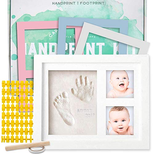 Baby Handprint Kit |NO MOLD| Baby Picture Frame, Baby Footprint kit, Perfect for Baby Boy gifts,Top Baby Girl Gifts, Baby Shower Gifts, Newborn Baby Keepsake Frames