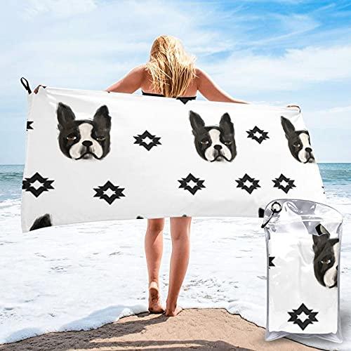 Dyfcnaiehrgrf n Toalla de baño de secado rápido, toalla de playa súper absorbente, toalla de playa de terciopelo de fibra superfina (27.5 x 55 pulgadas)